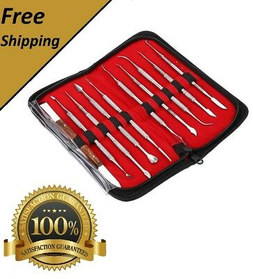 Professional 10 Pcsset Dental Lab Wax Carving Tools Knife Set Surgical Instrume