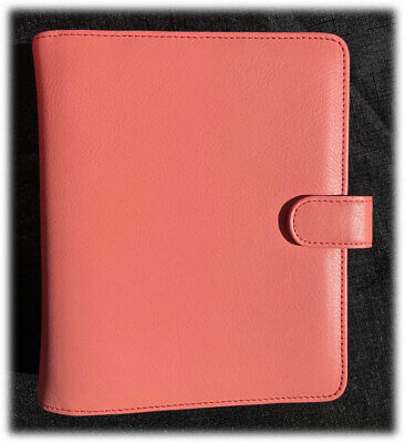 Vintage Franklin Covey Giada Crushed Peach Compact Planner Binder Euc