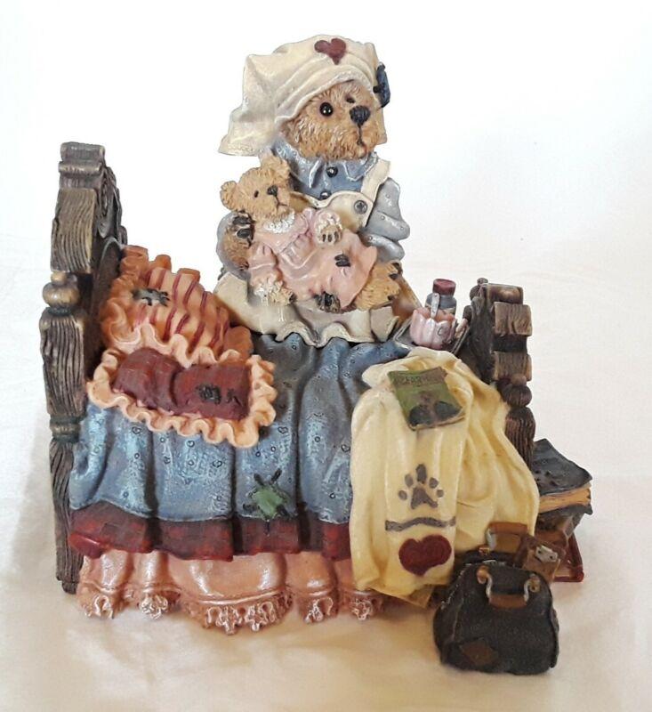 "Boyds Bears Clara The Nurse #2777SF Music Box Plays ""Spoonful Of Sugar"""