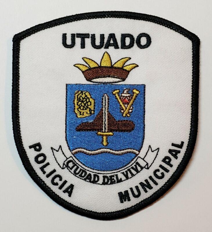VINTAGE OBSOLETE PUERTO RICO POLICE PATCH / POLICIA MUNICIPAL / UTUADO PR