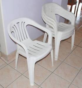 White plastic chair in very good condition $6 each Beverly Hills Hurstville Area Preview