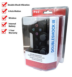 Game Controller for For Sony PS3 6 Axis DoubleShock Wireless Bluetooth ( BLACK )