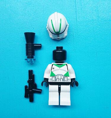 Lego Star Wars Clone Trooper Episode 3 Green Markings Minifigure 7260 RARE