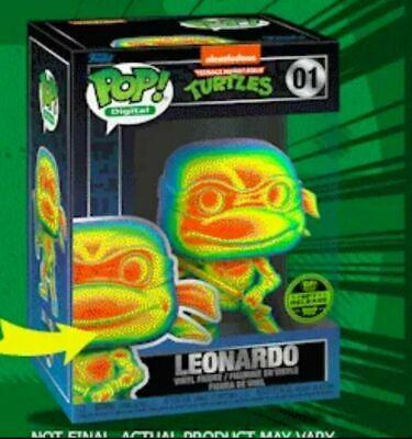 Funko Pop! TMNT 100 NFT Set for Redemption of 5 Physical Figures