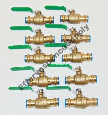 10 34 Propress Brass Ball Valves - Press Brass Ball Valve- Leed Free 250 Cwp