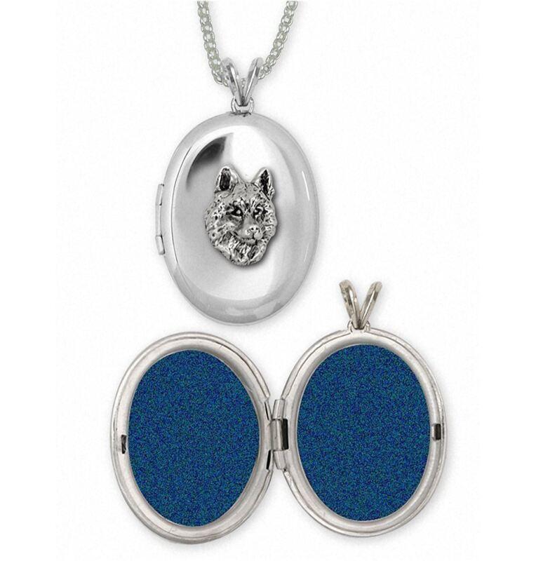 Siberian Husky Photo Locket Jewelry Sterling Silver Handmade Dog Photo Locket SB