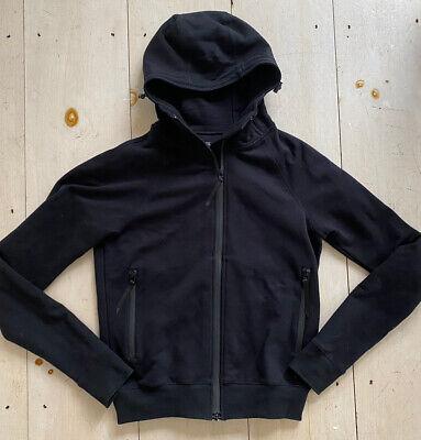 QUALITY Siki IM Cross Hoodie Athletic Jacket Mens M Medium Black Full Zip Cotton