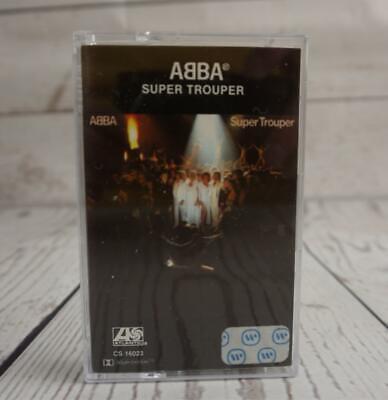 Vintage Cassette Tape ABBA  Super Trouper Pop Rock Disco CS 16023 (1980)