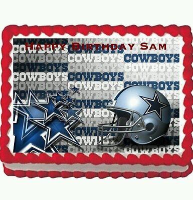 Dallas Cowboys  Birthday Party Edible Frosting Cake Topper 1/4 frosting sheet](Dallas Cowboys Birthday Cake)