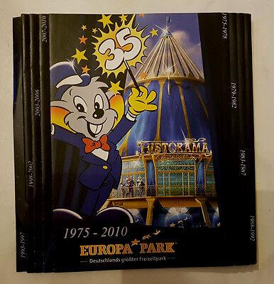 Faltprospekt 35 Jahre Freizeitpark EUROPA-PARK Rust. Von 2010.