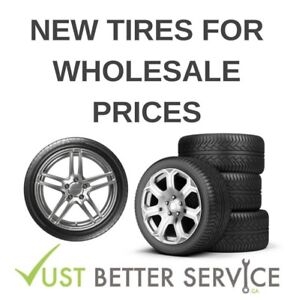 NEW TIRES AT WHOLESALE PRICES FREE INSTALLATION AND BALANCE !!!!