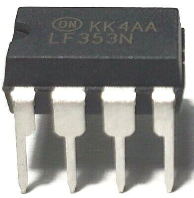 5pcs On Semiconductor Lf353n Lf353 Dual Wide Bandwidth Jfet Input Op-amp Ic New