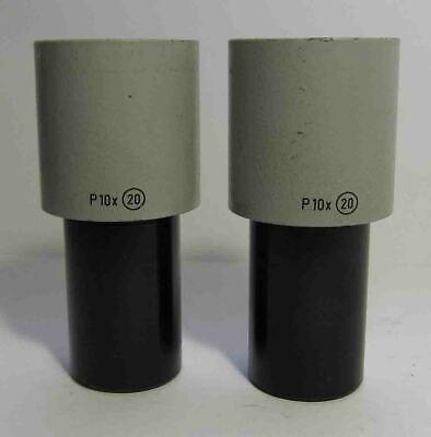 Pair Carl Zeiss Jena Eyepiece P 10x 20 Microscope Technival Citoval