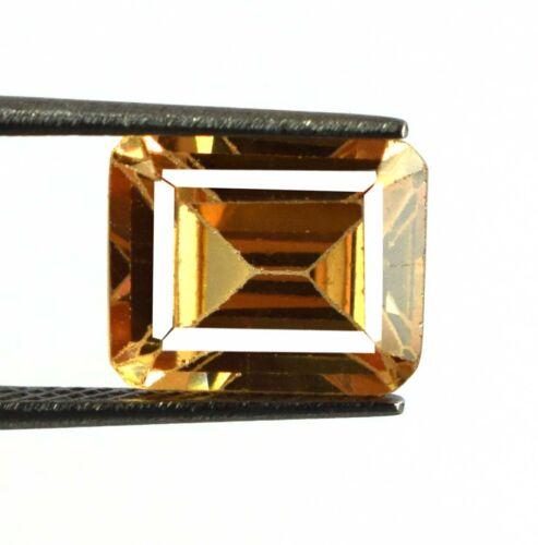 7.30 Carat Emerald Cut Brown Axinite Gemstone Natural Unheated Certified V8182