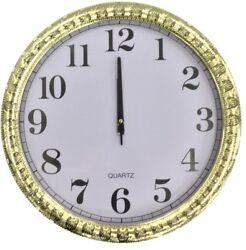 Extra Large 45cm Round Gold Wall Clock