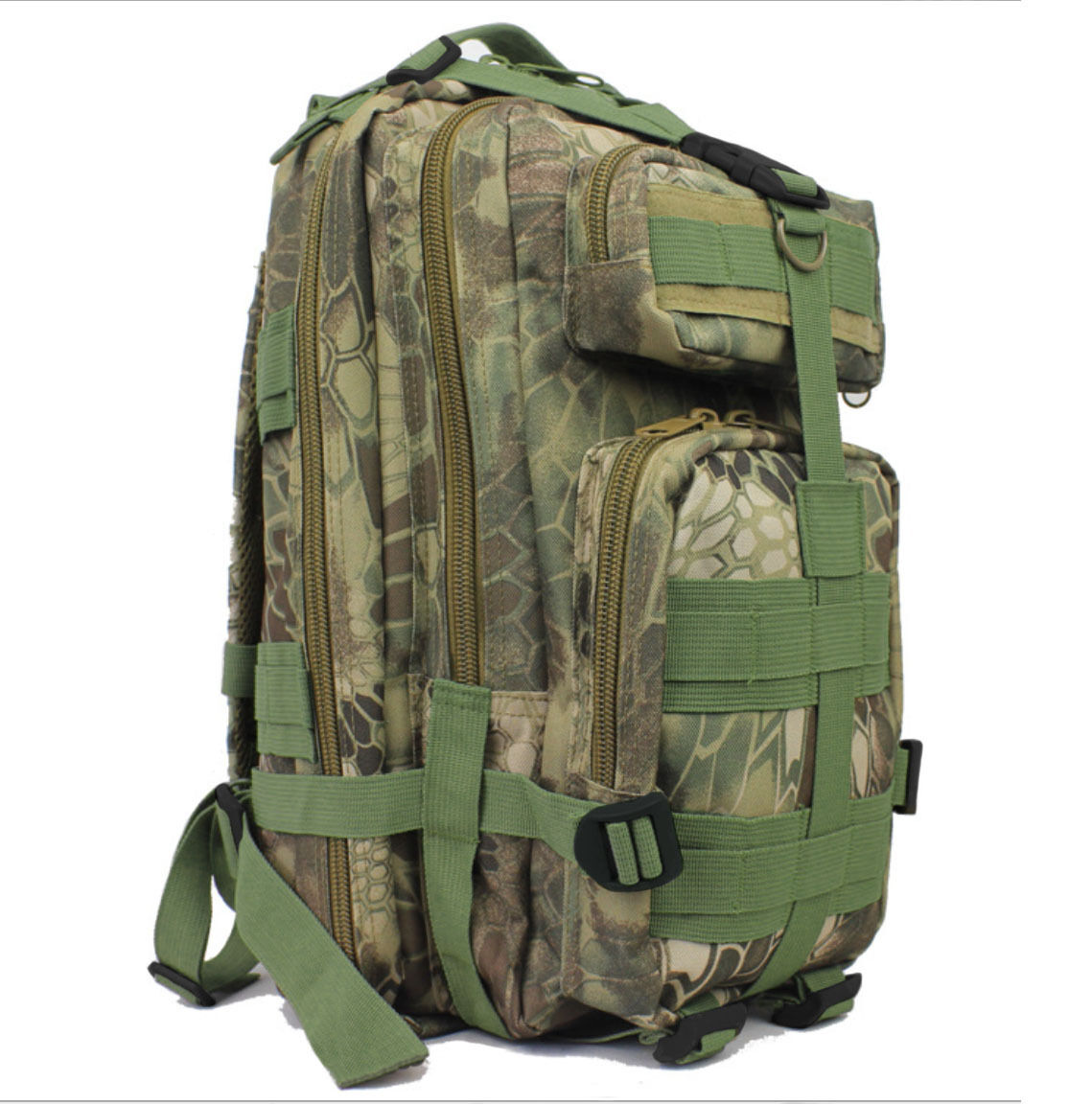 8L/10L/30L/55L/80L Outdoor Military Tactical Camping Hiking Trekking Backpack  30L Green Pythons Grain