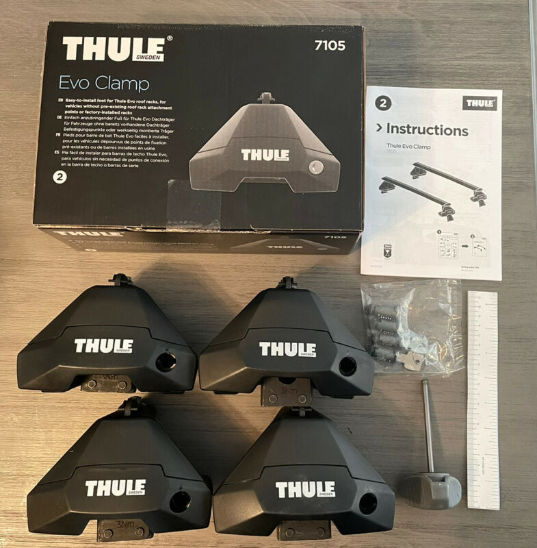 Thule 7105 / 710501 Evo Clamp Foot Packs x4 W/ Locks - Brand New In Box!!!