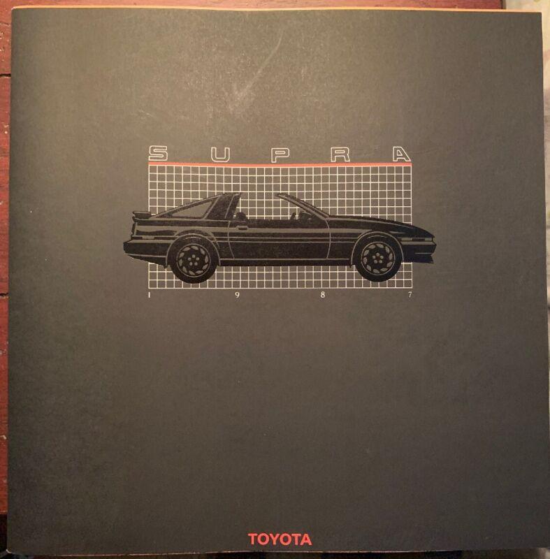 1987 Toyota Supra Brochure Original
