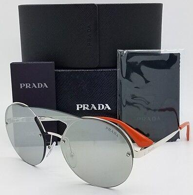New Prada sunglasses PR65TS 1BC2B0 Silver Mirror Round Blaze AUTHENTIC PR 65 -