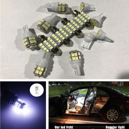 13 Pcs Xenon White LED Bulb Kit Car Interior Dome Map License Plate Lights Lamps