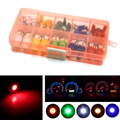 40Pcs Mixed 5 Colors Auto Car T5 T10 5050 SMD Instrument Panel Light + LED Bulbs