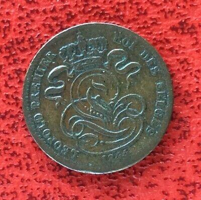 Belgique - Léopold Ier - Très Jolie  monnaie de  1 Centime 1844