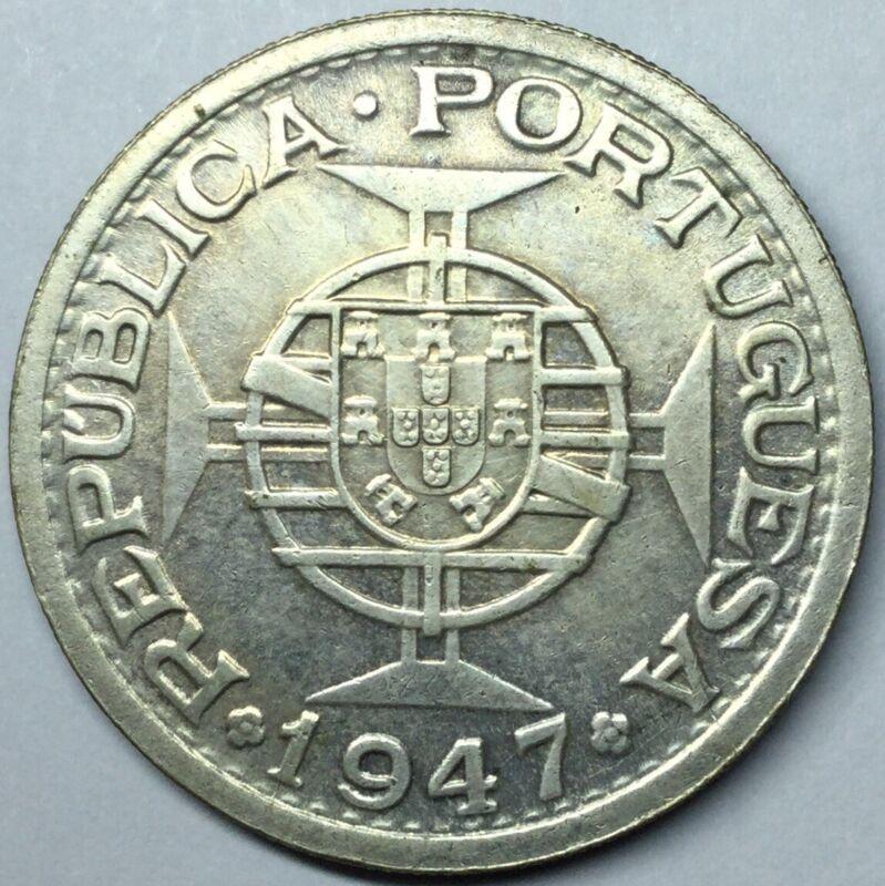 1947 Portuguese India Silver UNC Details Uncertified #
