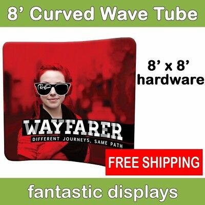8ft Curved Tube Pop Up Display Frame For Wavy Tension Fabric Backdrop Prints