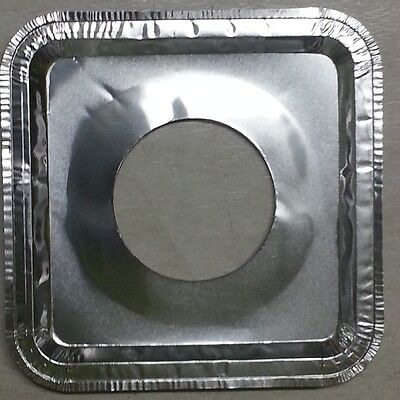 40 Pcs. Aluminum Foil Square Gas Burner ...