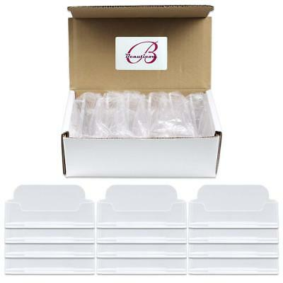 12pcs Clear Acrylic Business Card Holder Display Stand Desktop Countertop