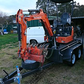 Excavator dry hire kobelco Hitachi