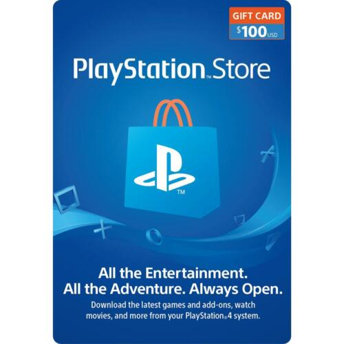 Brand New, Unused PlayStation Store Gift Card $100 - Free Shipping