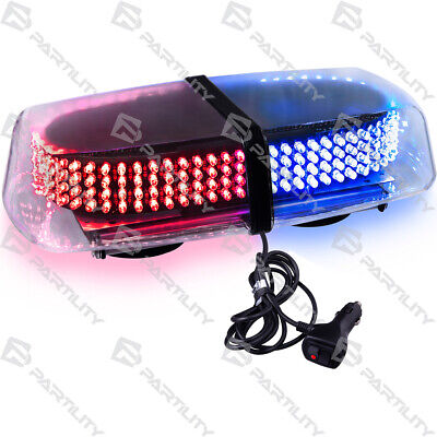 240 Led Red Blue Light Emergency Warning Strobe Flash Magnet Roof Advisor