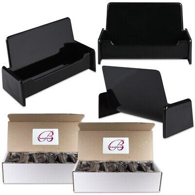 24pcs Black Color Plastic Business Card Holder Display Stand Desktop Countertop