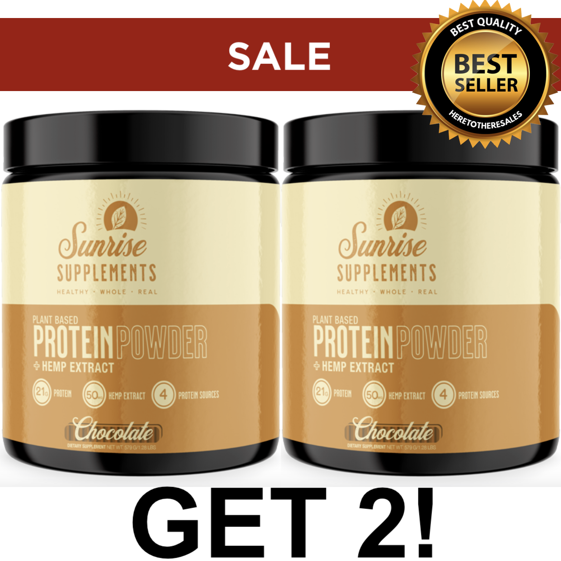 SALE! 2X Protein Powder Meal Replacement Weight loss VEGAN Chocolate Flavor 1LB