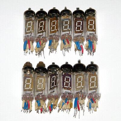 Iv-6 Iv6 -6 Nixie Era Vfd Vacuum Fluorescent Tubes Clock Dg12m 12pcs