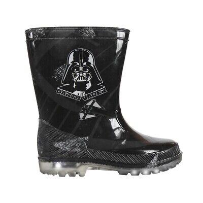 Star Wars Darth Vader PVC Kinder Gummistiefel Regen Stiefel mit LED Lichter ()
