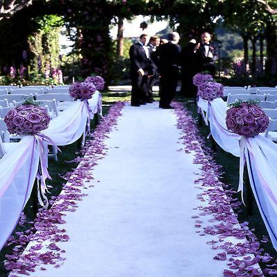 75 ft Satin Aisle Runner 22 Colors Red Carpet Events Wedding Party Banquet   (Red Carpet Event Dekorationen)