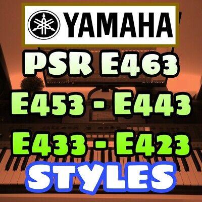 Yamaha PSR E463 E453 E443 E433 EW410 EW400 STYLES BEATS USA INDIAN UK PACKS comprar usado  Enviando para Brazil