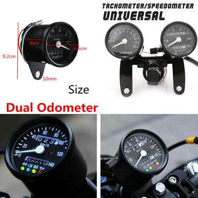 DC 12V Motorcycle LED Backlight Odometer Tachometer Speedometer Gauge Universal