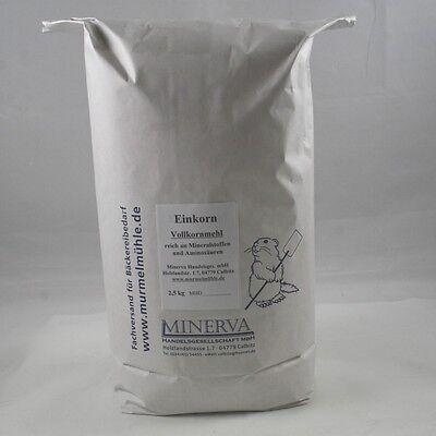 2,5 kg Einkornmehl, Einkorn, Urkorn, Vollkornmehl aus vollem Korn (€3,80 / 1 kg)