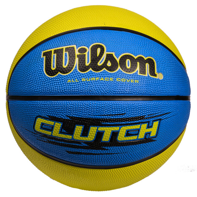 WILSON CLUTCH BLUE LIME YELLOW   Basketball ,  FREE UK  POSTAGE
