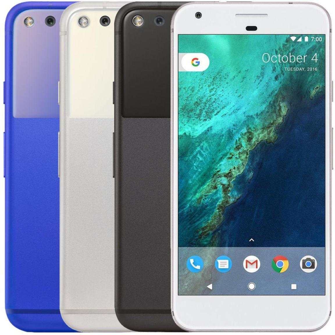 Android Phone - Google Pixel - 32GB (Verizon + GSM Unlocked; AT&T / T-Mobile) Smartphone