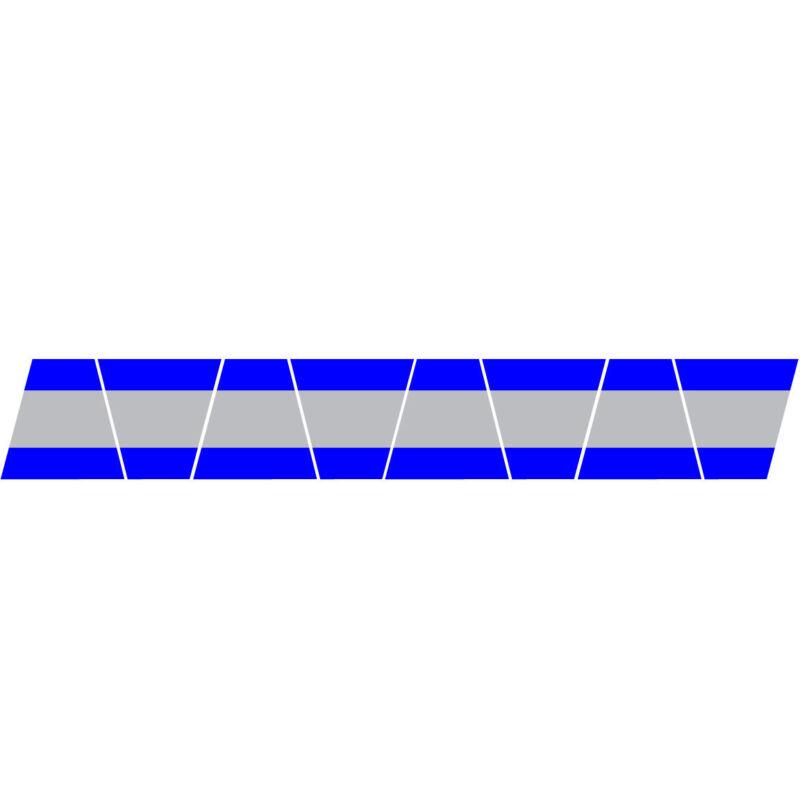 FIREFIGHTER HELMET TETS 8 PACK TETRAHEDRONS FIRE HELMET STICKER - BLUE/STRIPE