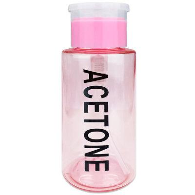 Kappe Gekennzeichnet (Pana 7oz Aceton Gekennzeichnet Push Down Pumpspender Flasche mit Flip Top Kappe)