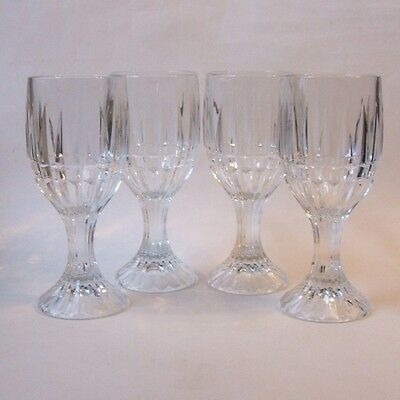 Set of 4 Home Essentials Trevi Crystal Wine Water Goblets Glasses