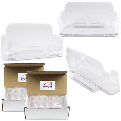 24pcs Clear Acrylic Business Card Holder Display Stand Desktop Countertop