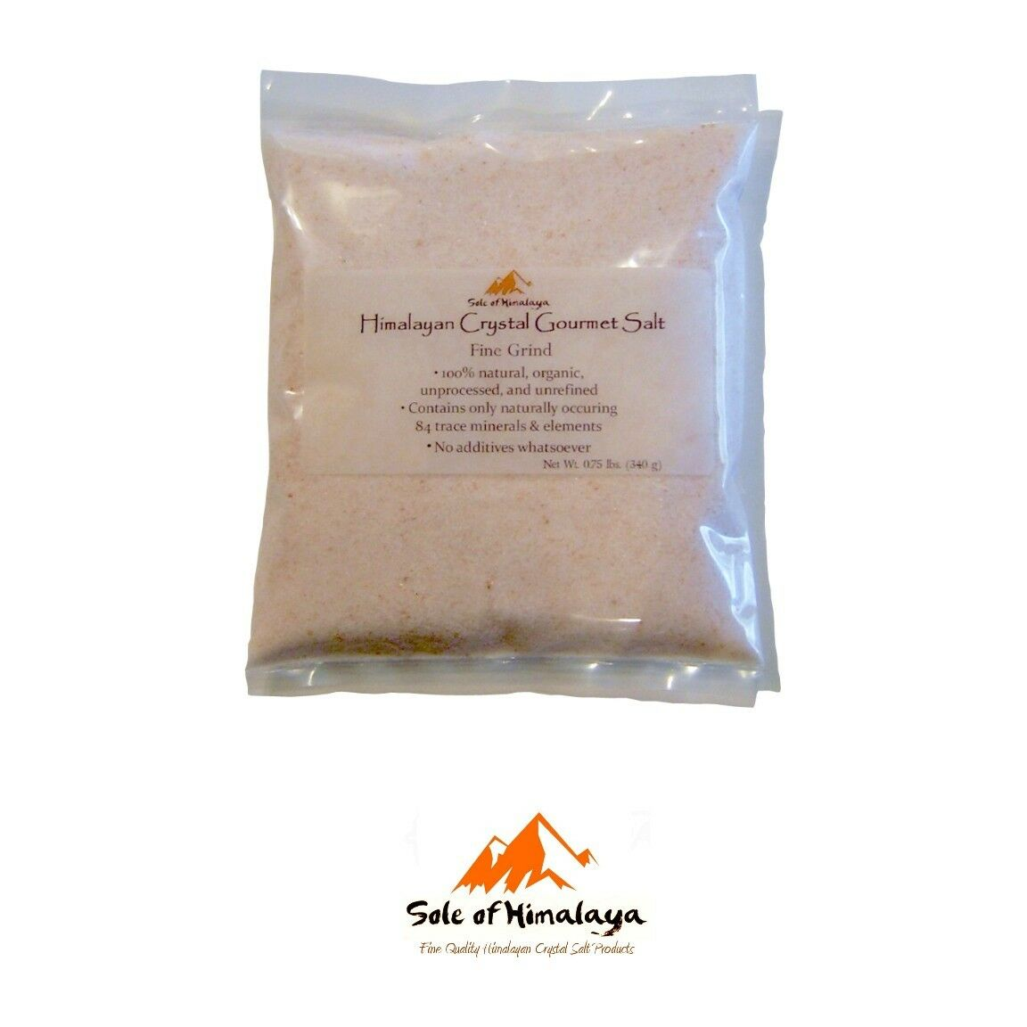 Himalayan Crystal Gourmet or Bath Pink Fine Grind Organic Natural Salt 12 oz Bag