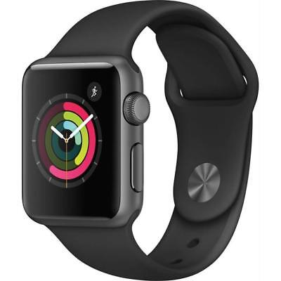 Apple Watch Series 2 - 38mm - Black Aluminum Case / Black Sports Band Smartwatch