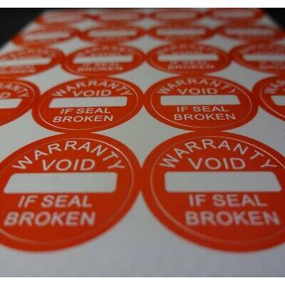 Warranty Void If Seal Broken Tamper Proof Security Stickers Labels Avr003